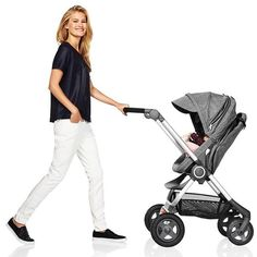The Smart #Urban #Stroller with a compact EZ fold too #StokkeScoot