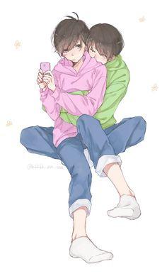 Todomatsu x Chormatsu How To Draw Sans, Ichimatsu, Twin Brothers, Manhwa, Cyber, Anime, Geek Stuff, My Love, Memes