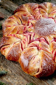 Cranberry Orange Brioche Star Christmas morning is the perfect time for a warm, homemade sweet bread. Get this cranberry orange brioche recipe at PBS Food. Holiday Bread, Christmas Bread, Holiday Baking, Christmas Baking, Festive Bread, Christmas Christmas, Homemade Christmas, Christmas Desserts, Bread And Pastries