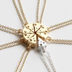 Cheese Necklace, Friendship Necklace, Best Friends Necklace, BFF Gift, 3D Tiny Cheese Necklace, Food Jewelry, Minimalist, Modern Jewelry