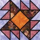 Stained Glass Penguin Tracks Quilt Block Pattern