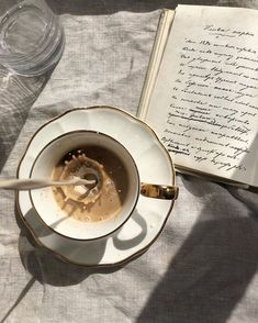 have a nice day awesome Tagged with beige book chic coffee cream cup fresh gold milk morning smile sun white writing Coffee And Books, Coffee Love, Best Coffee, Coffee Break, Coffee Cups, Tea Cups, Morning Coffee, Coffee Art, Coffee Creamer