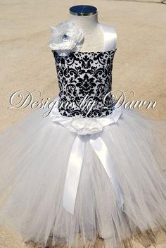 Damask Flower Girl Dress