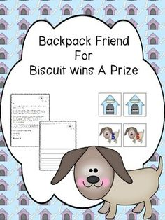 This Backpack Friend has a letter to the parent/child explaining what to do with the pack, a journal cover with a page for the journal writing and illustration and a Number matching card game.   I laminate the cover of the journal and copy the letter to the parent/child from the character and enough journal pages for each student.
