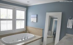 Bathroom Color Ideas For Painting With Blue Bathroom Paint Color Ideas, Benjamin Moore Bedroom Color Ideas Grey Bathroom Paint, Bathroom Wall Colors, Grey Bathrooms, Master Bathroom, Bathroom Ideas, Grey Paint, Bath Ideas, Bathroom Modern, Kitchen Paint