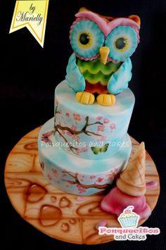 Tarta pintada... www.ponquecitosandcakes.com