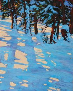 christmas shadows 30x24 by David Langevin