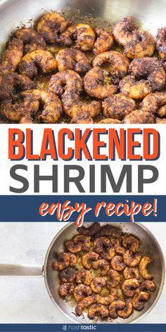 Shrimp Recipes, My Recipes, Healthy Recipes, Free Recipes, Eating Healthy, Clean Eating, Blackened Seasoning, Protein Salad