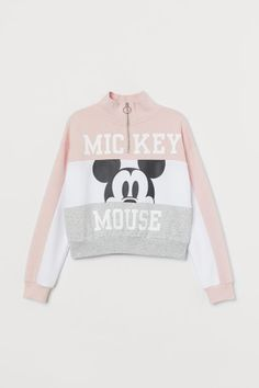 Aesthetic Patterns Discover Stand-up-collar Sweatshirt - Powder pink/Mickey Mouse - Kids Cute Disney Outfits, Disneyland Outfits, Cute Casual Outfits, Girls Fashion Clothes, Teen Fashion Outfits, Outfits For Teens, Cute Outfits For Girls, Trendy Hoodies, Cute Sweatshirts