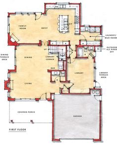 One Story Open Floor Plans | Two Story Plan: First Floor Flex Plans