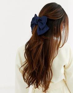 Hair Ribbons, Bow Hair Clips, Bow Clip, Aesthetic Hair, Grunge Hair, Hair Accessories For Women, Gorgeous Hair, Beautiful, Trendy Hairstyles