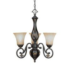 View the Nuvo Lighting 60%2F2721 Tuscan Three Light Up Lighting Chandelier from the Brussells Collection at LightingDirect.com.