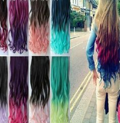 """Fashion gradient color wigs CuteKawaiiHarajukuFashionClothing&AccessoriesWebsite.SponsorshipReview&AffiliateProgramopening!so fashionable and sweet, use this coupon code """"Fanniehuang"""" to get all 10% off"""
