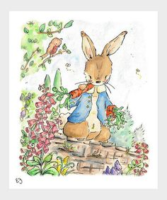 Take a look at this Peter Rabbit Print by LoxlyHollow on #zulily today!