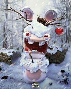Raving Rabbids poster Winter http://www.abystyle-studio.com/en/raving-rabbids-posters/253-raving-rabbids-poster-winter.html