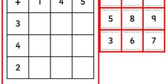 Six differentiated matching activities using addition grids.