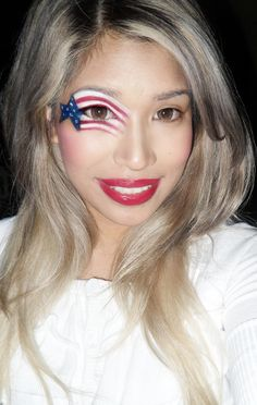 patriotic face painting ideas | Patriotic Makeup