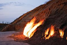 #IgniteTheSpark with the ever-burning flames of Baku's Fire Mountain - one of nature's great wonders