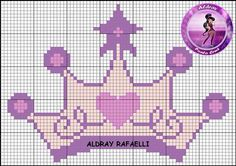 Princess crown cross stitch