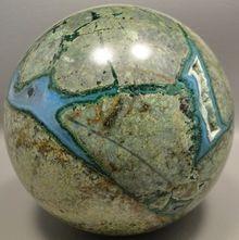 Chrysocolla Malachite 4 inch Stone Sphere Large Arizona Rock