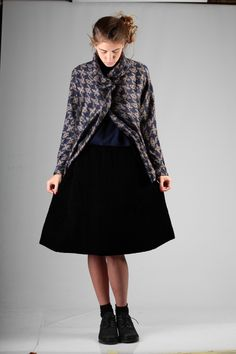 Boboutic skirt with Shu Moriyama jacket A/W 2014-15
