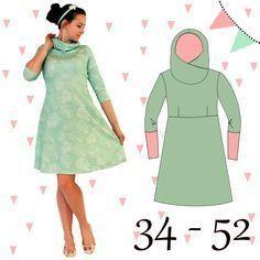 Das AnniNanni Kuschelkleid ist ein Kleid im Empirestil mit Brustabnähern. Vor allem ist es toll für Sweat und Sommersweat geeignet. Natürlich lässt es sich auch aus Jersey nähen, allerdings ist dann der Fall vom Rock und vom Kragen nicht mehr ganz so wunderschön. Der Vorteil von Kleidern mit Abnähern ist, dass das Kleid sehr gut die Figur umformt aber nicht einengt und noch genug Bewegungsfreiheit gibt. Abnäher sind sehr leicht zu nähen und stellen keine Schwierigkeit dar. Natürlich ist die…
