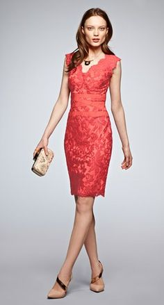 Coral sheath dress