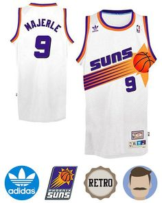 2c021f54f98 Men s Dan Majerle  9 White Swingman Throwback Jersey