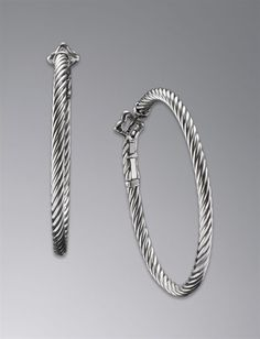 David Yurman - Thoroughbred Hoop Earrings