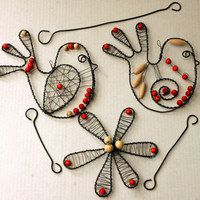Wood Sculpture, Sculptures, Bird Cages, Wire Weaving, Wire Crafts, Wire Art, Hanging Art, Copper Wire, Diy Jewelry