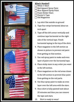 Timbers Wednesday - Starz and Stripes // Homemade American Flag T-Shirt made by River Bandits' Street Team