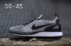 4d1614157cf7 Luxury Nike Air Zoom Mariah Flyknit Racer Black Light Grey Men s Women s Running  Shoes Sneakers