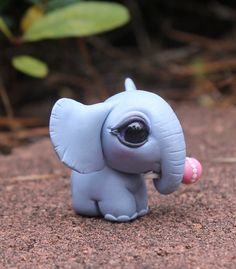 Bitty baby Elephant with a Rattle by BittyBiteyOnes on Etsy