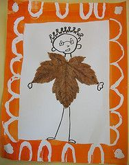 love the colorful border and simple black drawings Autumn Crafts, Autumn Art, Nature Crafts, Art For Kids, Crafts For Kids, Arts And Crafts, Kindergarten Art Projects, Manualidades Halloween, Fall Art Projects