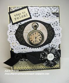 Time to relax! is a great saying for clock page/card
