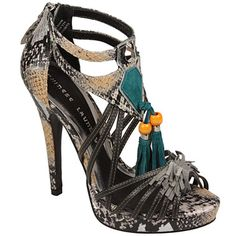 Chinese Laundry Famous Stars Faux Snakeskin heels