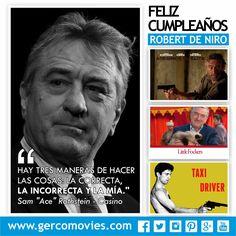 Actor, director, productor y ganador de 2 premios Óscar. Feliz Cumpleaños al gran #RobertDeNiro