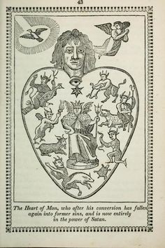 Johannes Gossner | The heart of man: either a temple of God, or a habitation of Satan: represented in ten emblematical figures, calculated to awaken and promote a Christian disposition (1851)