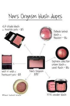 6 Nars Orgasm Blush Dupes - Summer Make-Up Drugstore Makeup Dupes, Beauty Dupes, Best Drugstore Blush, Mac Blush Dupes, Nars Dupe, Mac Lipstick Dupes, Eyeshadow Dupes, Best Highlighter Makeup, Makeup Products