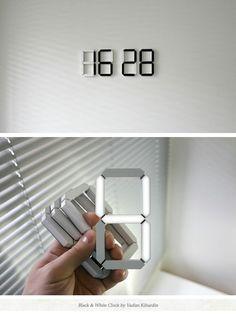Stick anywhere digital clock!