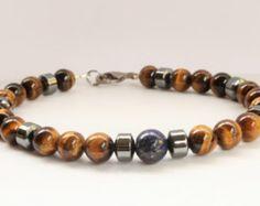 Handmade mens beaded bracelet – Etsy