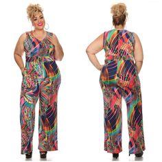 5b3b7259a902 MOGUL Boutique — MULTICOLORED PLUS SIZE JUMPSUIT Plus Size Jumpsuit