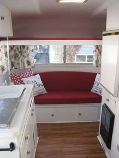 "Outstanding ""Travel Trailers"" detail is readily available on our site. Take a look and you wont be sorry you did. Travel Trailer Interior, Vintage Camper Interior, Travel Trailer Remodel, Rv Interior, Interior Ideas, Scamp Trailer, Tiny Trailers, Trailers For Sale, Rvs For Sale"