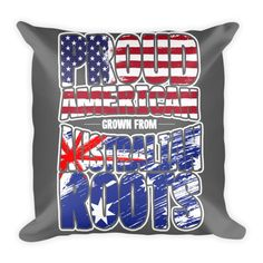 American With Australian Roots Pillow