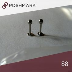 2 Body Jewelry Straight Barbell Monroe Labrets 316L surgical steel, 14g, 4mm ball, 10mm length. Price is firm but can give a little discount or offer on bundles. If you like this item, check out my other listings! Thanks for looking! No trades. 316L Surgical Steel Jewelry