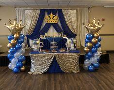 Prince Birthday Theme, Baby Boy 1st Birthday Party, First Birthday Party Themes, Birthday Themes For Boys, Girl Baby Shower Decorations, Boy Baby Shower Themes, Royal Theme Party, Royalty Baby Shower, Facebook