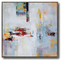 Hand-painted oversized Palette Knife Painting Contemporary Art on canvas, large square canvas art. – CZ Art Design