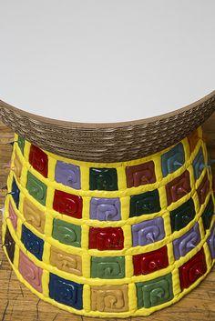 Uno dei Cork Staygreen con colori accesi, fra cui predomina il giallo www.morettoluca.net www.staygreen.it