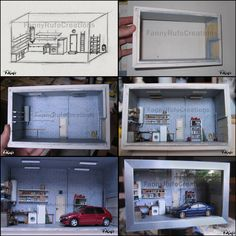 Diorama Garage 1:43 by FanouLouloute.deviantart.com on @deviantART