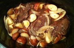 Crockpot Apple Cider Venison Roast